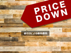 値引きによる価格勝負