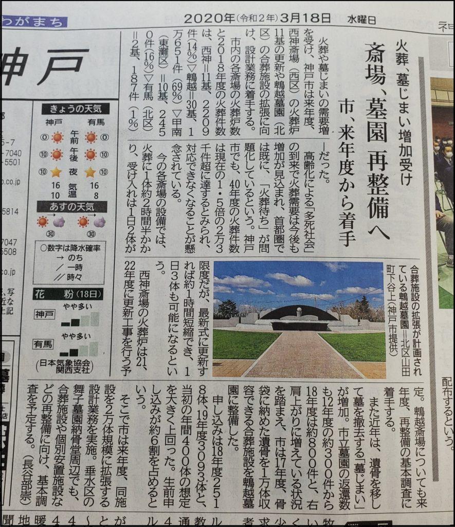 2年間で5,611体の申し込みがあった神戸市立鵯越墓園合葬墓