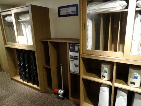 無料貸し出しの枕や空気清浄器・加湿器など
