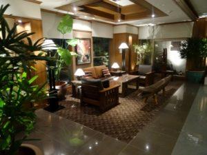 充実のホテルロビー